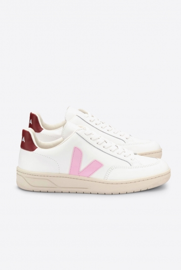 V-12 Leather Extra White Guimauve Marsala