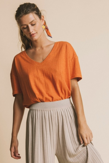 Camiseta Terracota Hemp Chloe