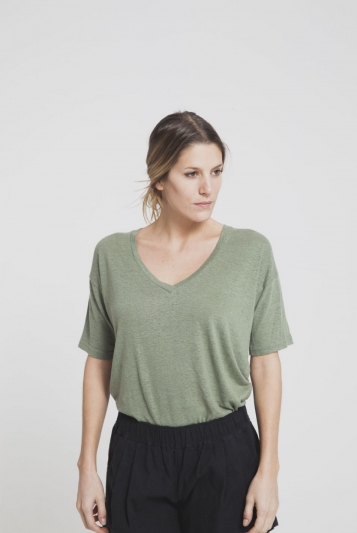 Camiseta Green Hemp V-neck tee