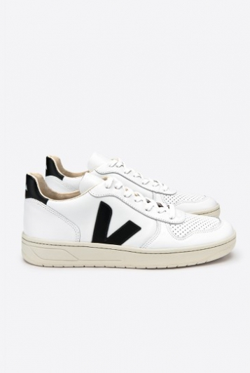 V-10 Leather Extra White Black