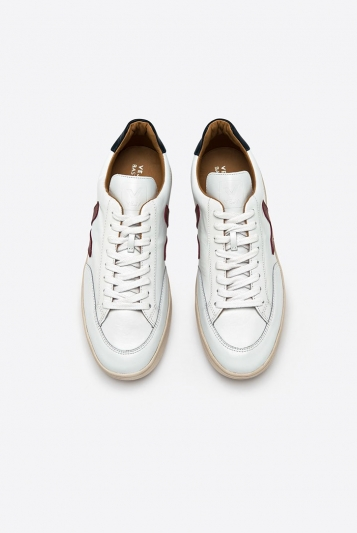 V12 Bastille Leather White Marsala